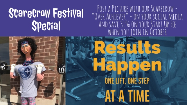Achieve! Fitness Center Eureka Scarecrow Festival Special