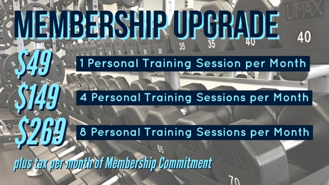 Achieve! Fitness Center Membership Personal Training Upgrades